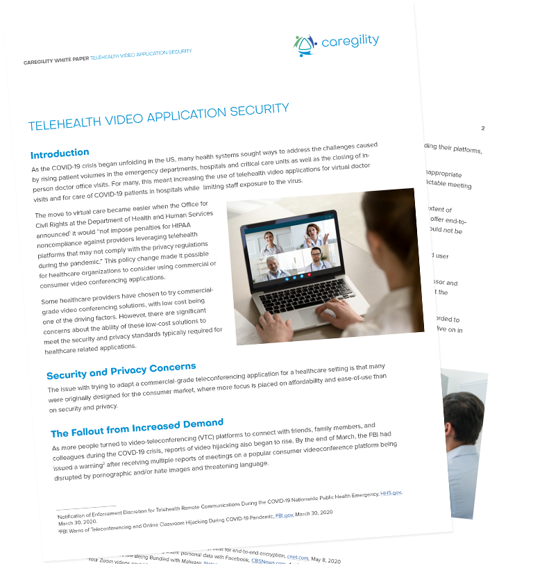 Caregility-TelehealthVideoApplicationSecurity-WhitePaper-Cover